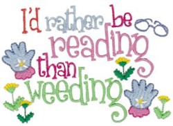 Rather Be Reading embroidery design