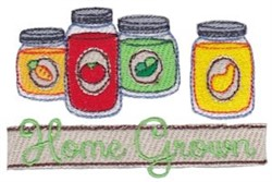 Home Grown Veggies embroidery design