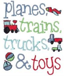 Planes, Trains & Trucks embroidery design