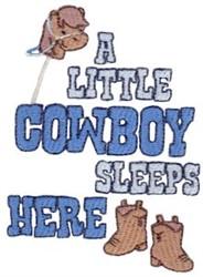 A Little Cowboy embroidery design