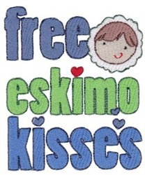 Free Eskimo Kisses embroidery design