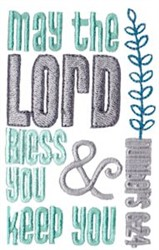 May The Lord Bless You embroidery design