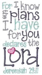 God Has Plans embroidery design
