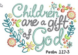 Gifts From God embroidery design