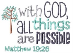 All Things Are Possible embroidery design