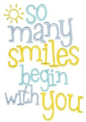 So Many Smiles embroidery design