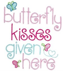 Butterfly Kisses Given Here embroidery design
