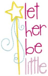 Let Her Be Little embroidery design