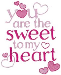 Sweet To My Heart embroidery design