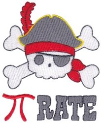 Pi Rate embroidery design