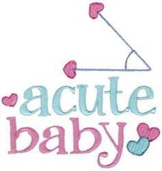Acute Baby embroidery design