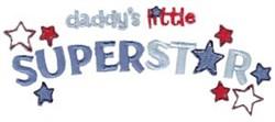 Daddys Superstar embroidery design