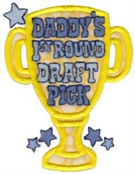 Daddys Draft Pick embroidery design