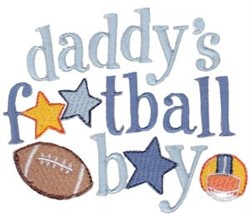 Daddys Football Booy embroidery design
