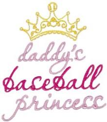 Baseball Princess embroidery design