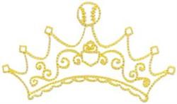 Baseball Crown embroidery design