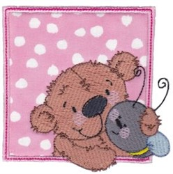 Bear & Bee embroidery design