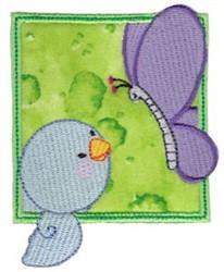 Bird & Butterfly embroidery design