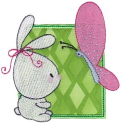 Bunny & Butterfly embroidery design