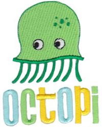 Octopi embroidery design
