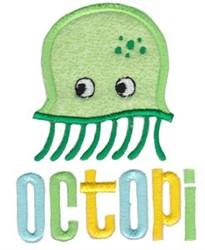 Applique Octopi embroidery design