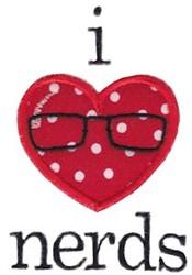 I Love Nerds Applique embroidery design