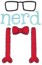 Nerd Clothes embroidery design