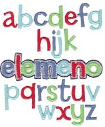 Elemeno ABC embroidery design