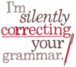 Correcting Your Grammar embroidery design