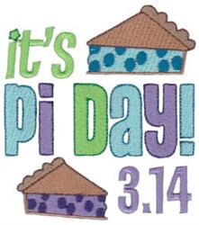 Its Pi Day embroidery design