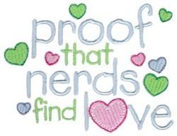 Nerds Find Love embroidery design