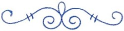 Curly Embellishment embroidery design