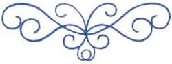Curly Flourish embroidery design