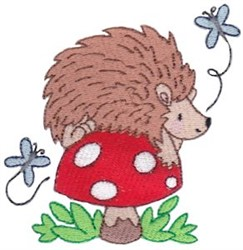 Mushroom Hedgehog embroidery design