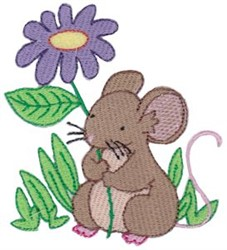 Flower Mouse embroidery design