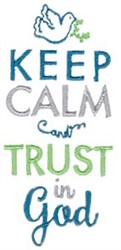 Trust In God embroidery design
