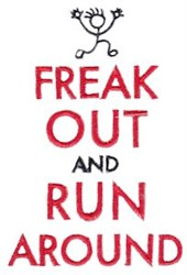Freak Out embroidery design