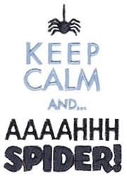 Aaaahhh Spider embroidery design