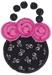 Applique Flower Purse embroidery design