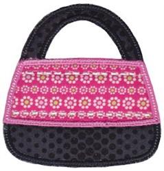 Applique Purse embroidery design