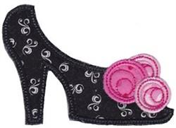 Applique Floral Shoe embroidery design