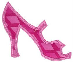 Applique Heel embroidery design