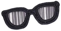 Applique Sunglasses embroidery design