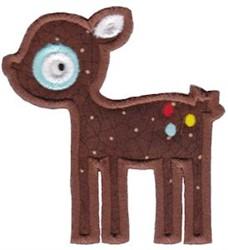 Applique Fawn embroidery design