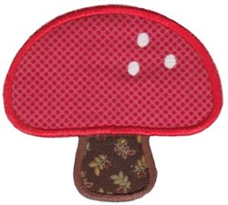 Applique Mushroom embroidery design