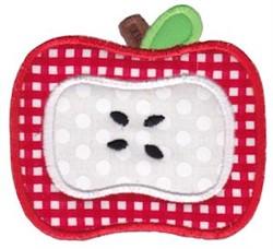 Applique Apple embroidery design