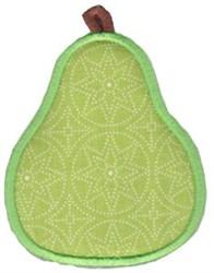 Applique Pear embroidery design