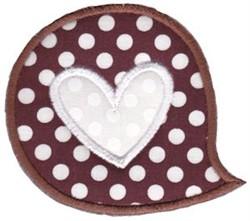 Applique Heart Bubble embroidery design
