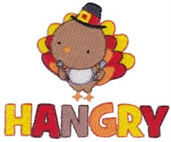 Hangry Turkey embroidery design