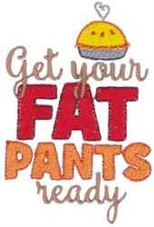 Fat Pants embroidery design